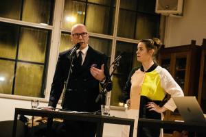I februar inviterede vi sammen med Strøm og RMC til debat aften om den frie kunst potentialer i Danmark. Paneldeltagerne var Alex Ahrendtsen, Marie Koldkjær Højlund, Sanne Kofod Olsen og Thomas Michelsen. Foto: Malthe Folke Ivarsson